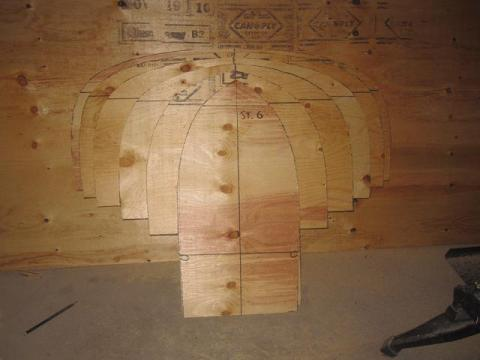 canoe building: station forms