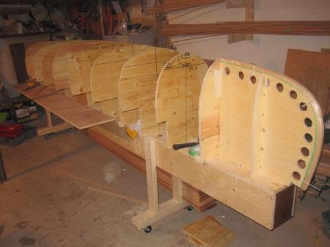 canoe building: mounting station forms