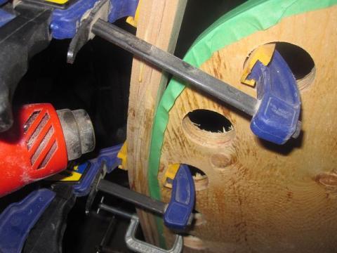canoe building: bending the internal stem