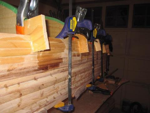 canoe building: clamps