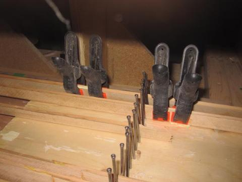 canoe building: scarf joints