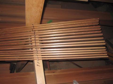 canoe building: cedar strips