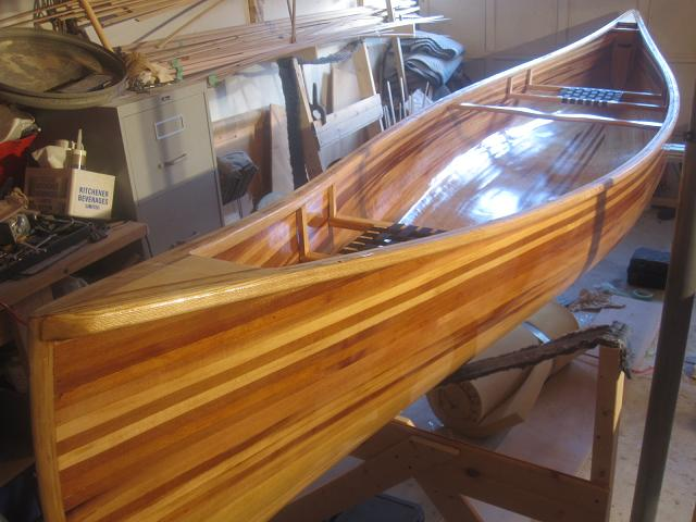 Building ceader strip boat