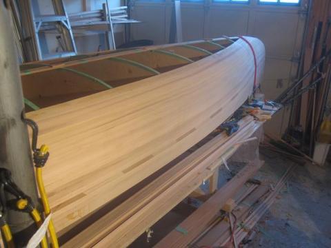 cedar strip canoe sides