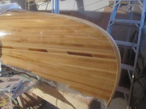 fiberglassing canoe ends